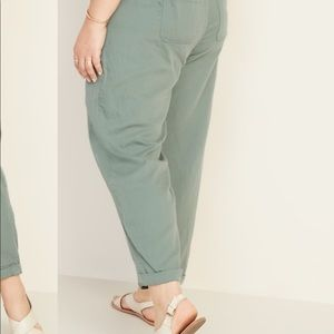 Pull-On Soft Cropped Utility Pants